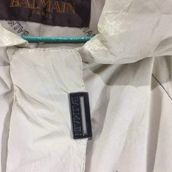 Balmain LUXURY!! BALMAIN Paris Monogram Down Jacket Puffer Jacket / Fall & Winter Hypebeast Jacket / Balmain Raincoat Size US L / EU 52-54 / 3 - 6