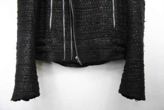 Givenchy $8k AW13 Givenchy Black Tweed & Leather Biker Jacket Size 48 Size US M / EU 48-50 / 2 - 5