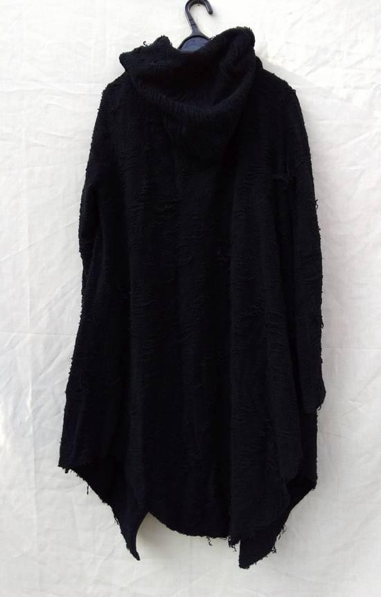 Julius Black Hooded Cotton Wool Jacquard Cardigan Size US M / EU 48-50 / 2 - 1