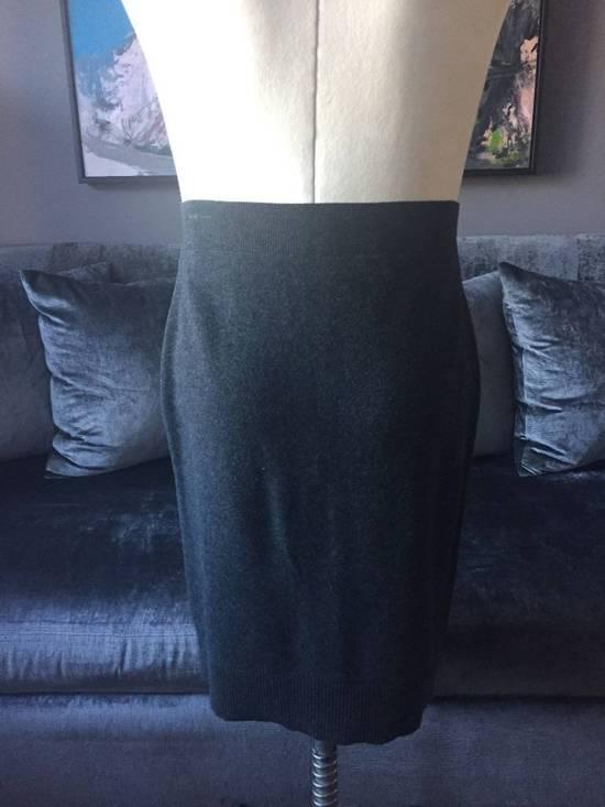 Givenchy Grey Wool Knit Runway Skirt Size US 36 / EU 52 - 2