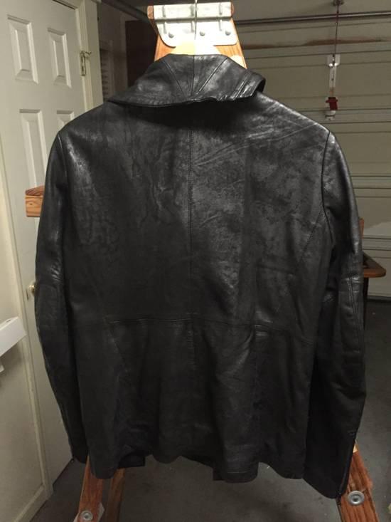Julius SS17 Treated Lambskin Funnel Neck Jacket Size US L / EU 52-54 / 3 - 12