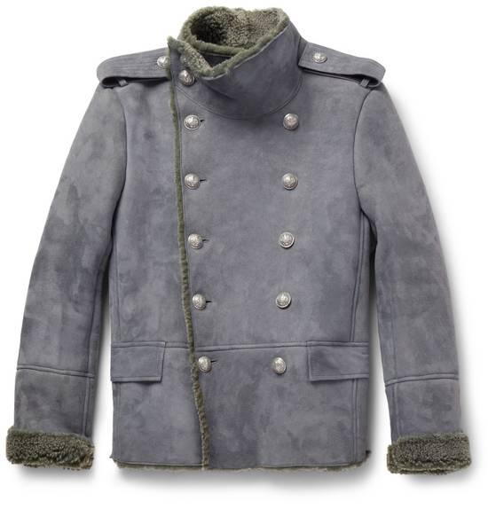 Balmain Shearling Military Coat Size US S / EU 44-46 / 1 - 10