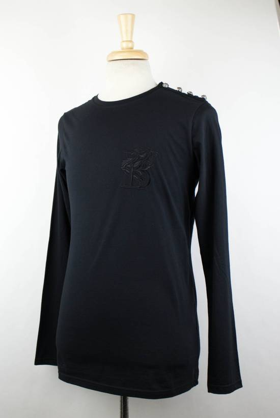Balmain Black Lion Embroidered Long Sleeve Crewneck T-Shirt M Size US M / EU 48-50 / 2 - 1