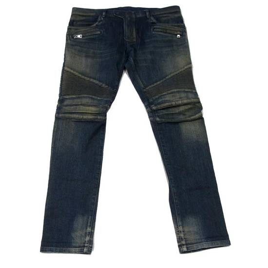 Balmain Balmain Mens Distressed Biker Moto Jeans Sz. 34 T551 C306 Size US 34 / EU 50