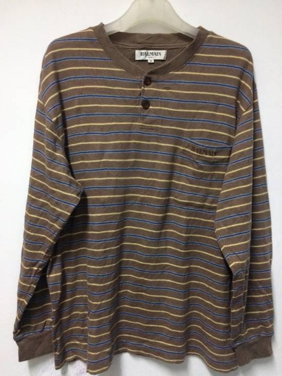 Balmain Stripe Pocket L/Sleeve Shirt BALMAIN Large Japan. Size US L / EU 52-54 / 3