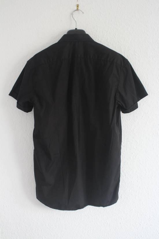 Balmain SS11 Decarnin Black Metal Badge Pin Poplin Shirt Size US M / EU 48-50 / 2 - 5