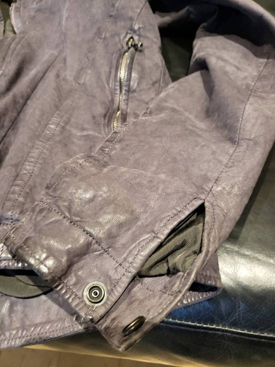 Julius AW12 Moldable Jut Neck Leather Jacket NEW Size US L / EU 52-54 / 3 - 2