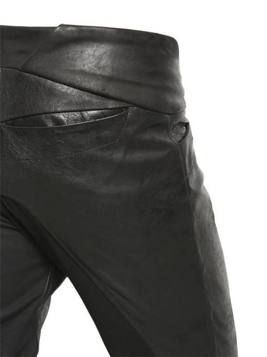 Julius Knee Paneled Leather Biker Pants Size US 30 / EU 46 - 7