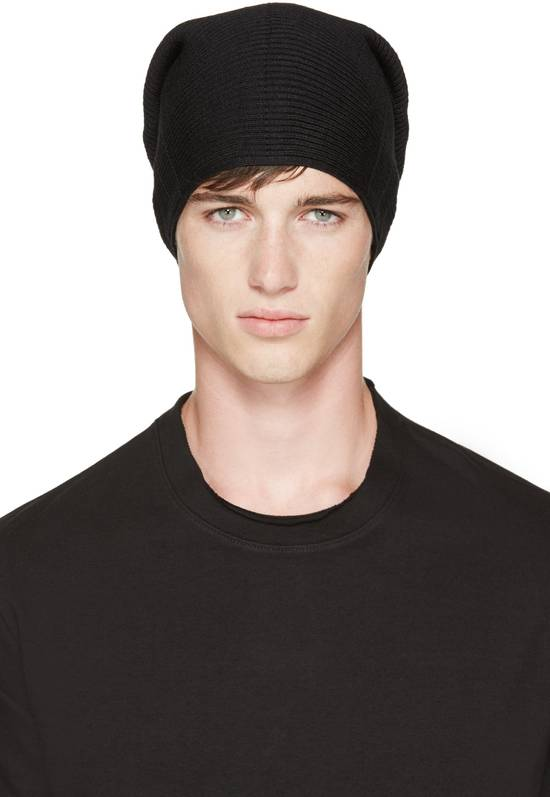 Julius Julius Black Knit Tube Beanie Size ONE SIZE - 4