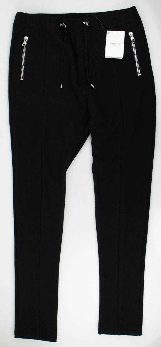 Balmain Men's Black Cashmere with Drawstrings Jogger Pants Size Large Size US 36 / EU 52