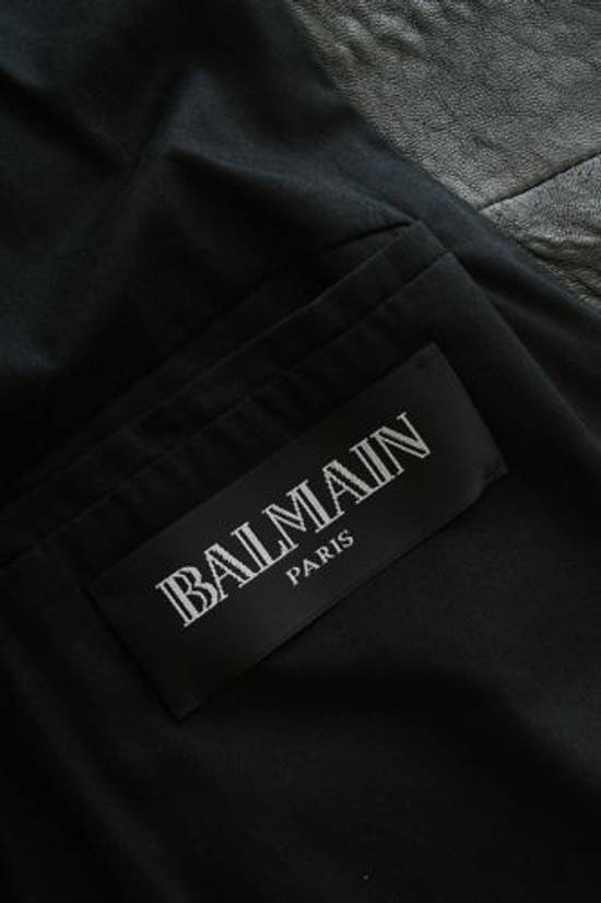 Balmain BALMAIN classic black pebble leather sleeveless biker jacket S FR46 US36 UK36 Size US S / EU 44-46 / 1 - 7