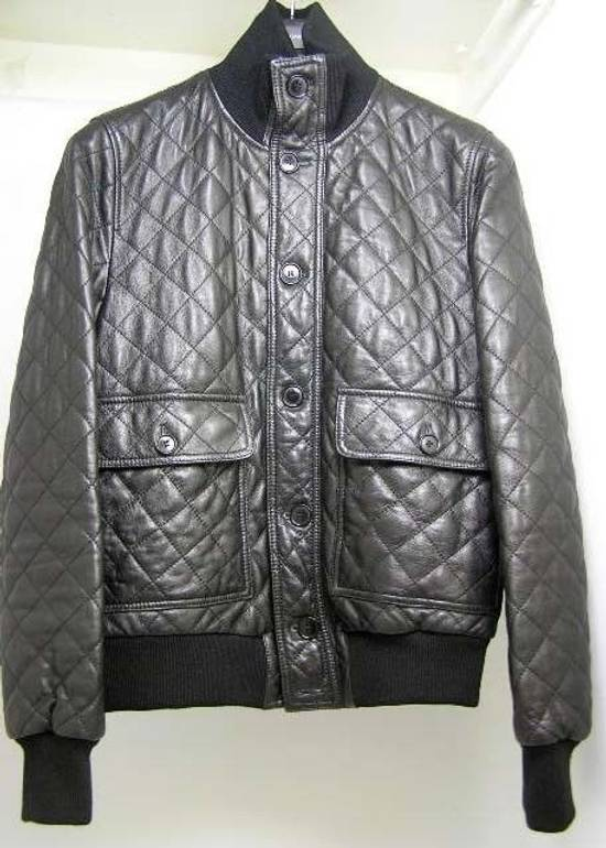 Givenchy Men's Dolce & Gabanna Quilted Leather Bomber Jacket Size 48 Size US M / EU 48-50 / 2