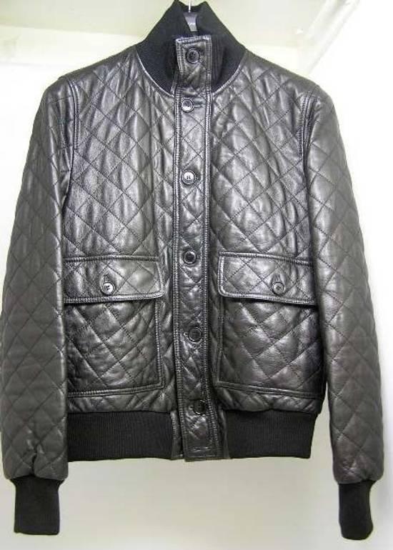 Givenchy Men's Dolce & Gabanna Quilted Leather Bomber Jacket Size 48 Size US M / EU 48-50 / 2