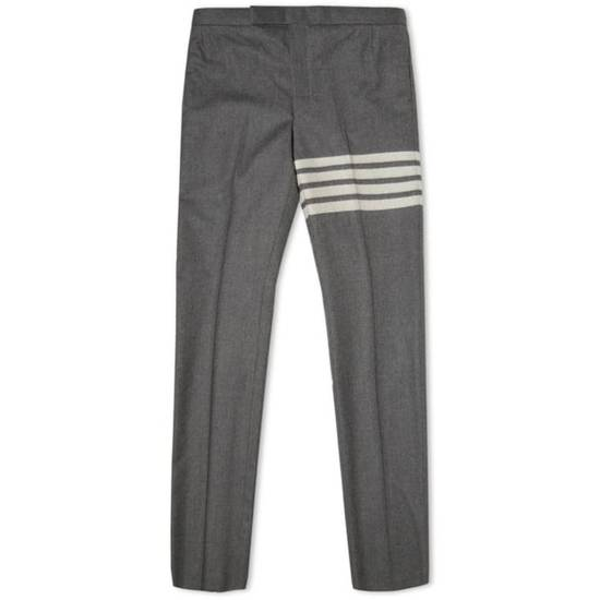Thom Browne THOM BROWNE STRIPE BACKSTRAP FLANNEL TROUSER Size US 31 - 2