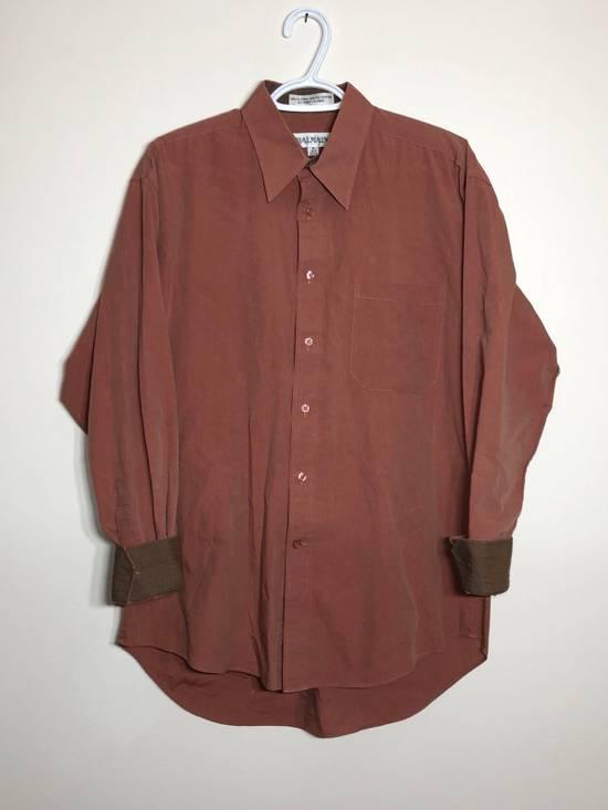 Balmain Red Chambray Long Sleeve button down Size US M / EU 48-50 / 2