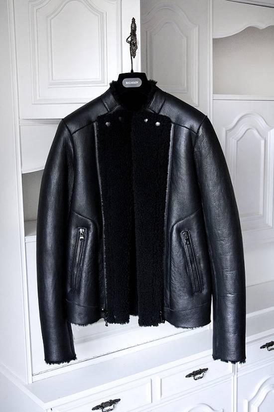 Balmain xy AW2013-2014 shearling biker jacket Size US S / EU 44-46 / 1