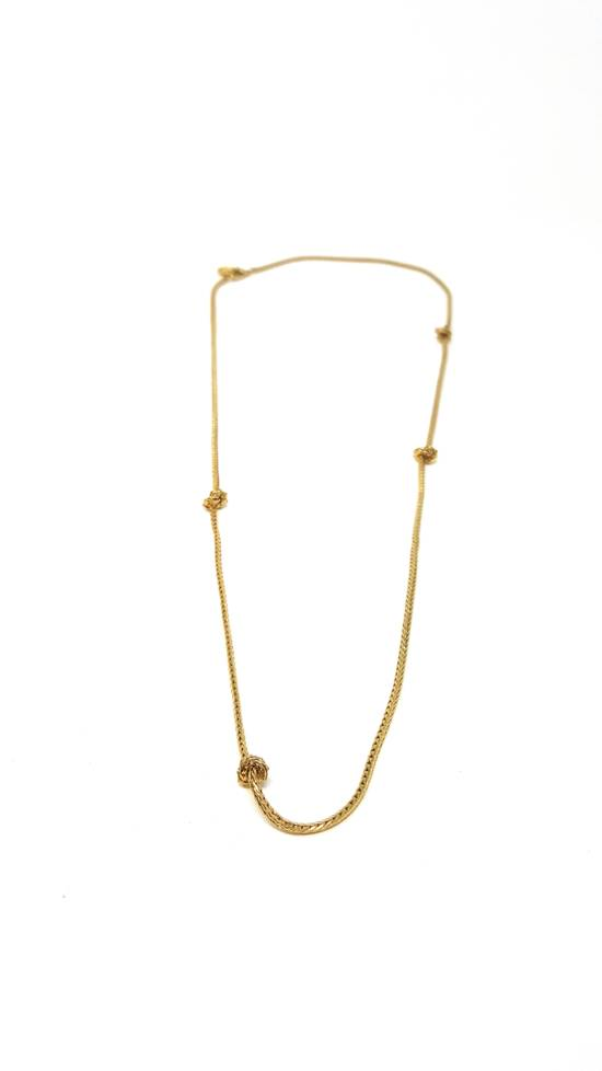 Givenchy Barbed wire gold plated necklace Size ONE SIZE - 1