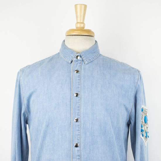 Balmain Denim Embroidered Button Down Casual Shirt Size 15.5 US 39 EU Size US XXS / EU 40 - 4