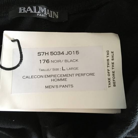 Balmain Slim-fit Taped Cotton- Jersey biker Swetpants Size US 31 - 6