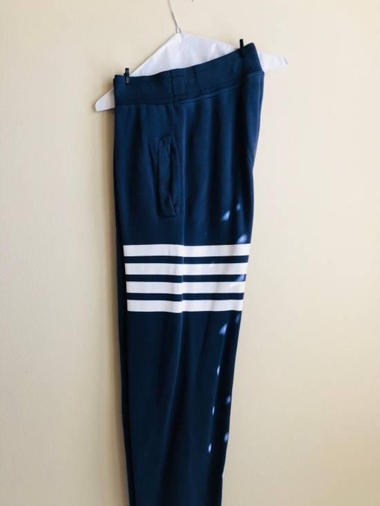 Thom Browne Navy Classic Four Bar Lounge Pants Size US 30 / EU 46