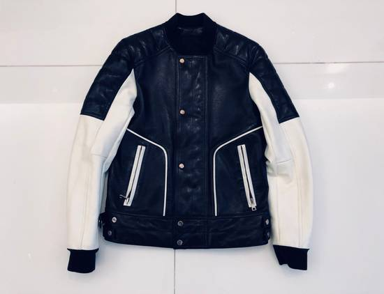 Balmain Full Leather Bomber Jacket Size US M / EU 48-50 / 2