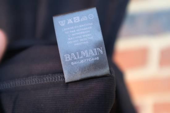 Balmain Black Ribbed Knit T-shirt Size US XS / EU 42 / 0 - 8