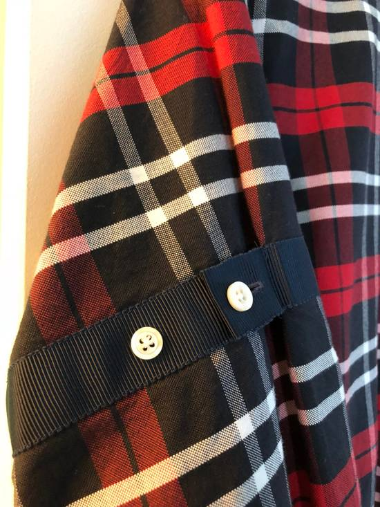 Thom Browne Red/Navy/White Plaid Shirt Size US M / EU 48-50 / 2 - 4
