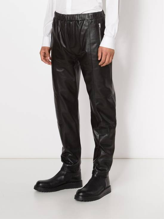 Givenchy $2475 Givenchy Lambskin Rottweiler Leather Trousers Trackpants size 50 (M / L) Size US 34 / EU 50 - 2