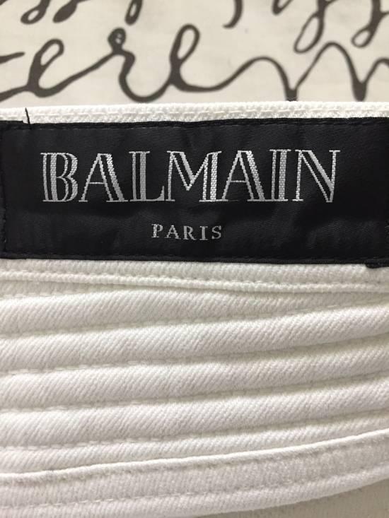 Balmain Balmain White Biker Jeans Size US 29 - 3