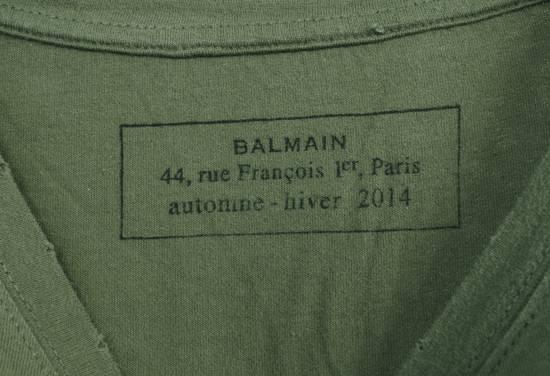 Balmain Original Balmain Distressed Elements Khaki Men T-Shirt in size L Size US L / EU 52-54 / 3 - 5