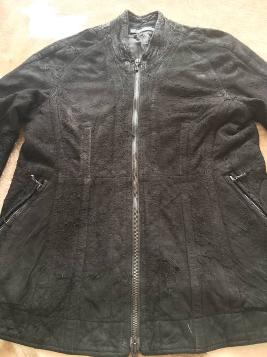 Julius $2200 Lamb Leather Blistered And Reversed Moto Jacket Made In Japan In Mint Condition Size US M / EU 48-50 / 2 - 6