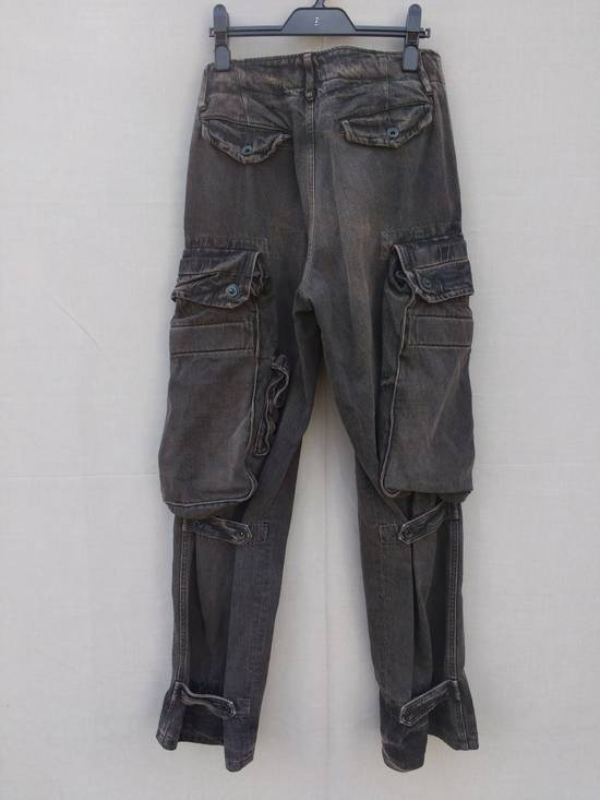 Julius Gas Mask Cargo Pants in Bown Denim AW09 Size 1 Size US 29 - 1