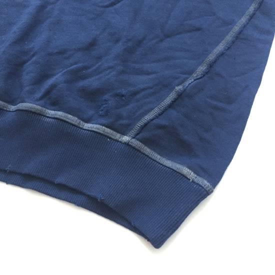 Balmain Distressed Navy French Terry Sweatshirt NWT Size US XL / EU 56 / 4 - 8