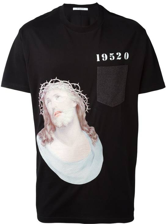 Givenchy Embroidered Jesus Print T-shirt Size US M / EU 48-50 / 2 - 1