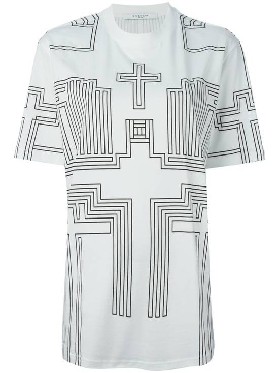 Givenchy $595 Givenchy Geometric Cross Print Rottweiler Shark Oversized T-shirt size XS (M) Size US M / EU 48-50 / 2 - 1
