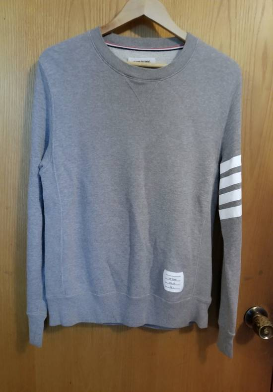 Thom Browne Classic 4 Bar Engineered Stripe Sweater Size US L / EU 52-54 / 3