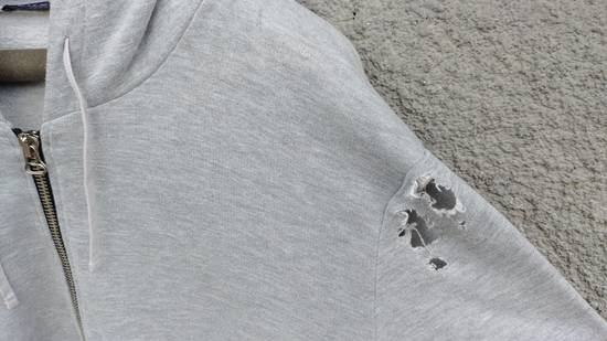 Balmain FW10 Balmain Grey Destroyed Distressed Decarnin Era Men's Hoodie size L (XL) Size US L / EU 52-54 / 3 - 3