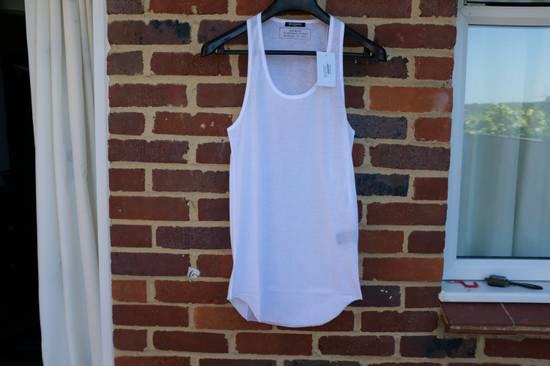 Balmain White Ribbed Knit Tank Top Size US L / EU 52-54 / 3