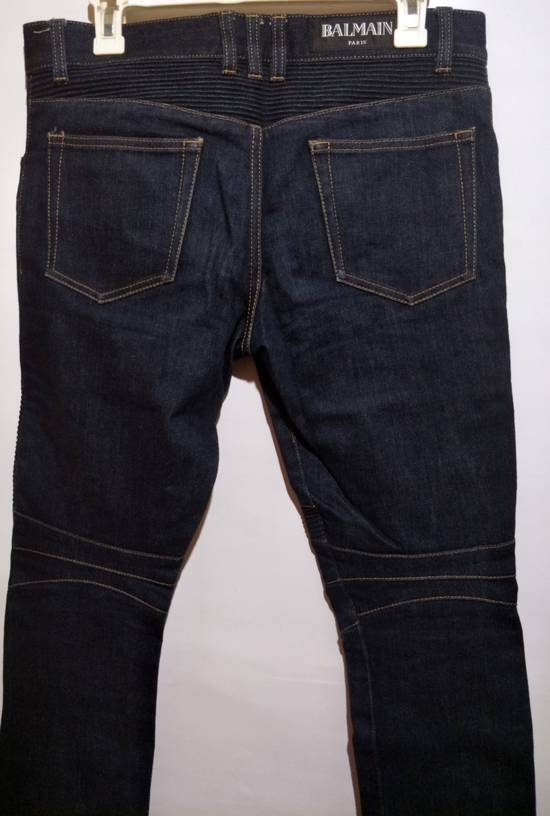 Balmain Vintage Balmain Paris Biker Blue Jeans Like New Size US 31 - 1