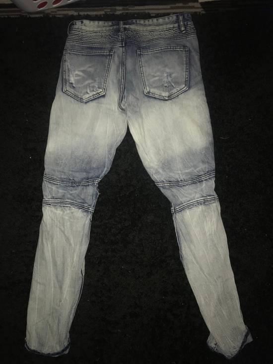 Balmain Biker Dyed Jeans Size US 30 / EU 46 - 2