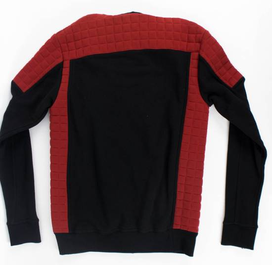 Balmain Red/Black Cotton Hooded Zipper Sweatshirt Size M Size US M / EU 48-50 / 2 - 2
