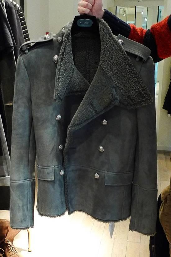 Balmain Shearling Military Coat Size US S / EU 44-46 / 1