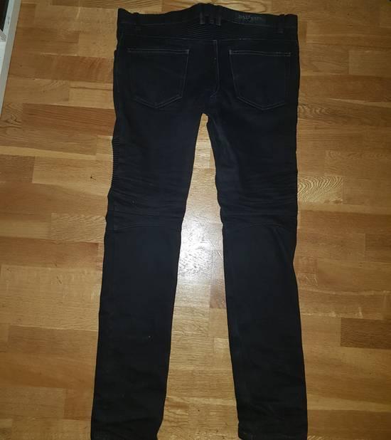 Balmain Slim-fit raw denim biker jeans Size US 31 - 1