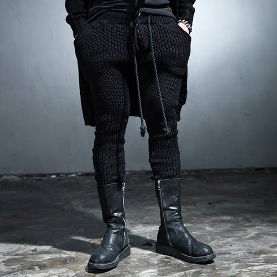 Julius Byther - black julius knit pants - like thom krom, boris bidjan saberi, silent damir doma, rick owens Size US 32 / EU 48 - 1