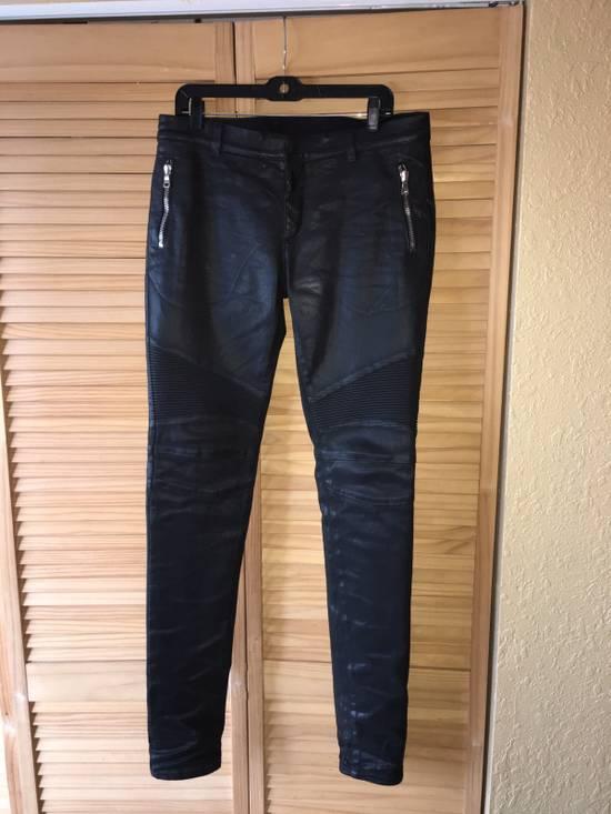 Balmain Coated Skinny Biker Jeans Size US 33 - 1