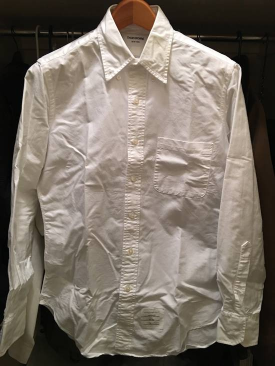Thom Browne White Oxford with Painted collar detail - 2 Size US M / EU 48-50 / 2 - 2