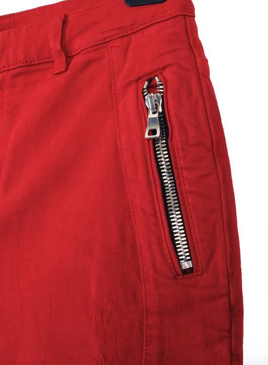 Balmain Original Balmain Distressed Red Men Biker Jeans in size 32 Size US 32 / EU 48 - 7