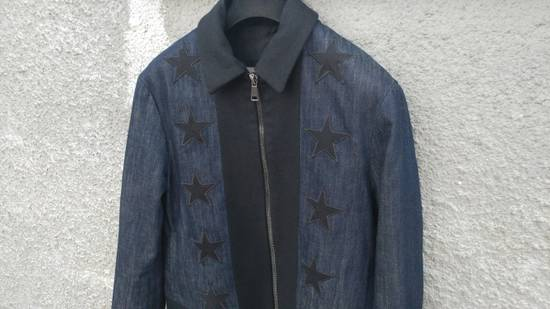 Givenchy Givenchy Star Applique Denim Wool Rottweiler Madonna Bomber Jacket size 48 (M) Size US M / EU 48-50 / 2 - 2