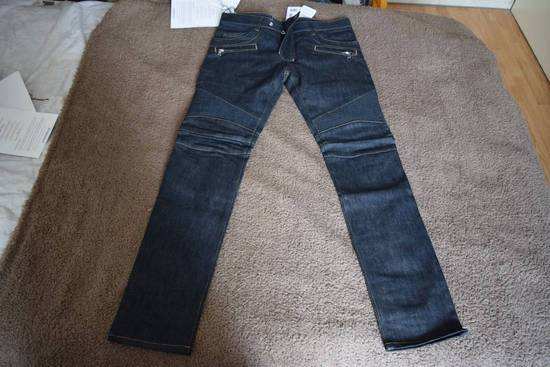 Balmain Balmain Authentic $990 Navy Biker Jeans Size 31 Skinny Fit Brand New With Tags Size US 31