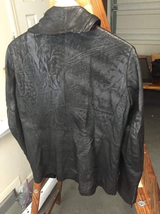 Julius SS17 Treated Lambskin Funnel Neck Jacket Size US L / EU 52-54 / 3 - 10